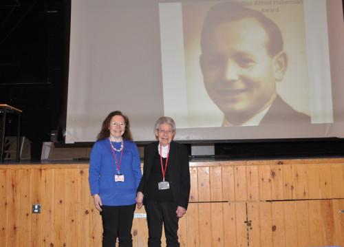Shirley Huberman with her daughter Caroline Spencer
