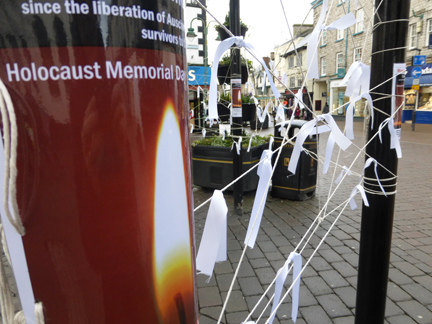 white ribbons attached to the Birdcage