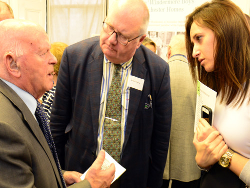 Ben Helfgott MBE with Sir Eric Pickles and Helen Myer (Holocaust Commission)