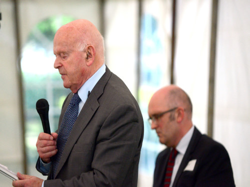 Ben Helfgott MBE (with Trevor Avery sitting down)