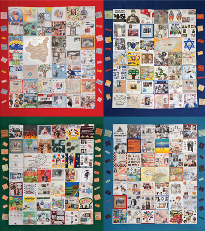 Memory Quilt - four hangings