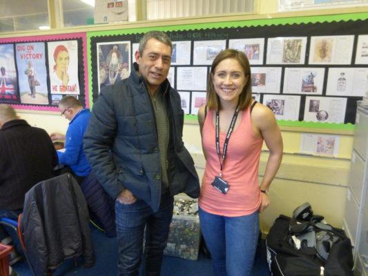 Laura Oram, Teacher & Robbie Gontarz, son of Holocaust Survivor